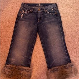 7 For All Mankind - Crop Bootcut - Rabbit Fur - 25